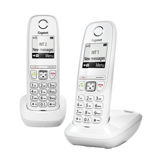 Telefono Gigaset  Dect As405 Duo Whi