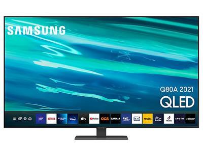 "Televisor Samsung QE55Q80AATXXC 55"" QLED UHD 4K ..."