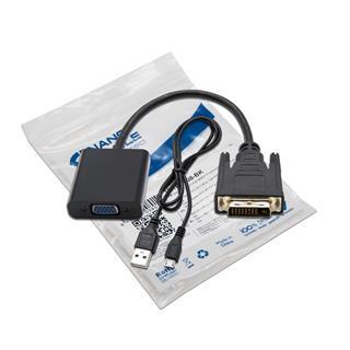 CABLE CONVERSOR DVI 24+1 A VGA HDB15 H NEGRO 10CM