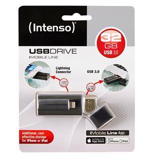 Pendrive 32GB USB3.0 Intenso iMobile Line Negro