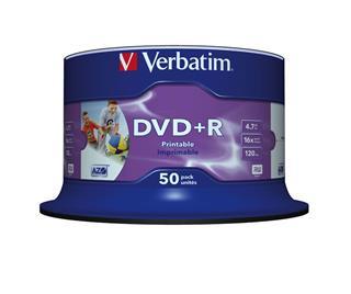 VERBATIM DVD+R 4.7GB 16X PHOTO INK PRINT 50