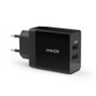 ADAPTADOR CORRIENTE ANKER 2x USB NEGRO