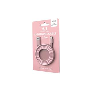 Adaptador USB a Apple Lightning Fresh ´N Rebel 1.5m rosa