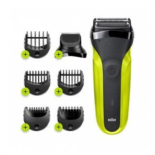 Afeitadora Braun 300Bt Green recortador + 5 peines