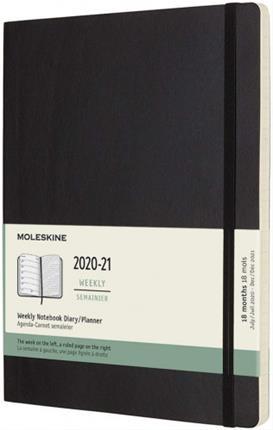Agenda 18M SEMANAL XL NEGRA TAPA BLANDA 2020-2021 ...