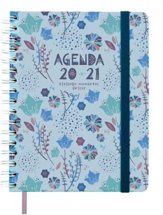 Agenda escolar Finocam 16 meses 2020-2021 azul