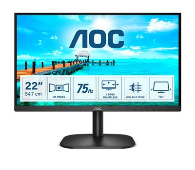 AOC MONITOR 21 5 FHD HDMI  VGA DVI