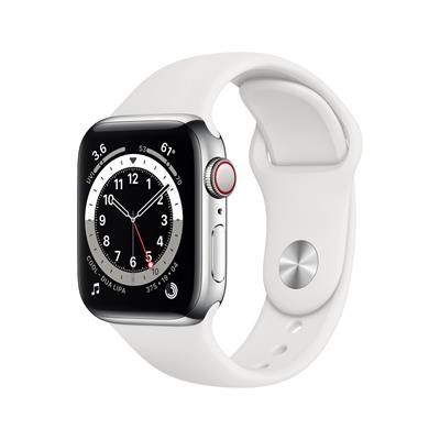 APPLE WATCH SERIE 6 GPS + 4G 40MM SILVER STAINLESS STEEL + CORREA SPORT WHITE