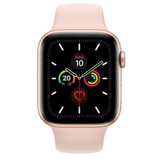 Apple Watch Series 5 GPS 44mm Aluminio Oro Correa Deportiva Rosa