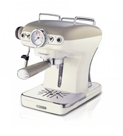 Ariete Vintage Espresso Machine. beige