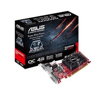 ASUSTEK RADEON R7240-OC-4GD3-L PCI-E3   4GB DDR3 820MHZ DVI HDMI