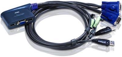 ATEN 2-PORT USB VGA KVM SWITCH WITH  A