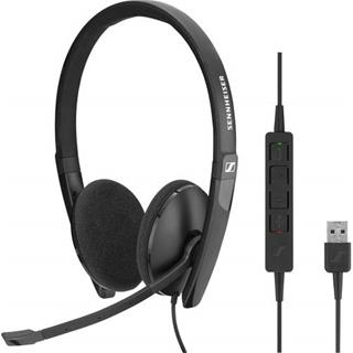 SENNHEISER SC 160 USB WIRED BINAURAL USB HEA·DESPRECINTADO
