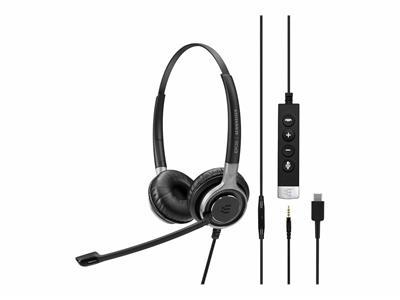 Auriculares Sennheiser SC 665 USB-C con micrófono