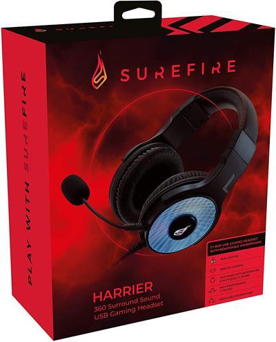 Auriculares Surefire gaming Harrier 360 7.1 USB