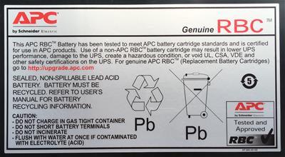 Batería APC APCRBC118 repuesto 118