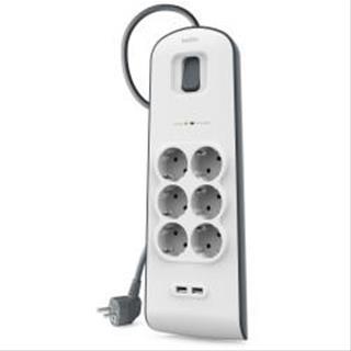 Regleta Belkin SurgeMaster 6OT 650J 2M 2 USB