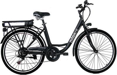 Bicicleta eléctrica Nilox J5 de acero negro