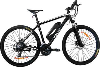 Bicicleta eléctrica Nilox X6 de aluminio negro