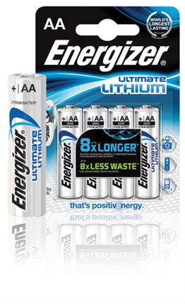 BLISTER 4 PILAS ULTIM LITHIUM TIPO L91 (AA) ...