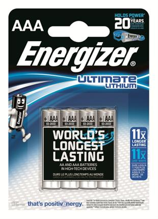 BLISTER 4 PILAS ULTIM LITHIUM TIPO L92 (AAA) ...