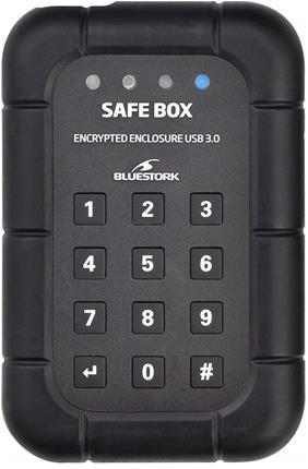 "Bluestork EHD-25-SATA-U3-CR 2.5"" Negro recinto de almacenaje"
