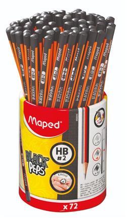 BOTE 72 LAPICES GRAFITO BLACK PEPS HB MAPED