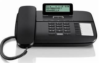 Teléfono fijo BP GIGASET GIGASET DA710 Negro