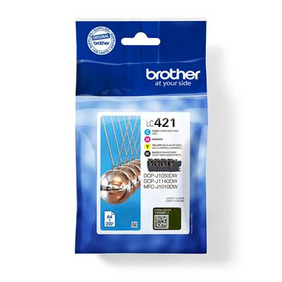 Brother PACK TINTA BCYM LC421VAL