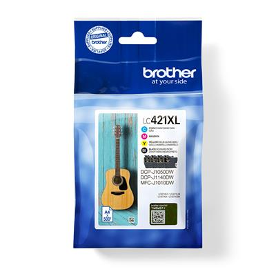 Brother PACK TINTA XL BCYM LC421XLVAL