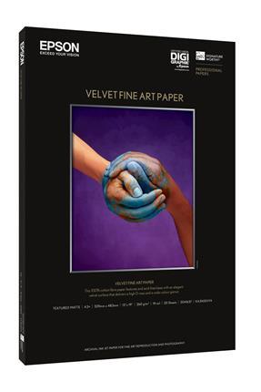 Papel Epson GF Velvet Fine  Art. A3+. 20 h. 260g.
