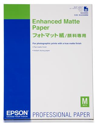 Epson GF Papel Enhanced Matte. A2. 50h. 192g/m2