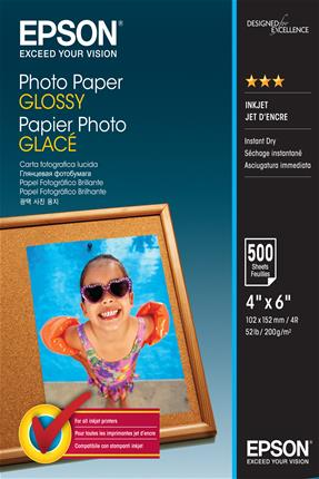 Papel Epson  Photo Glossy 10x15cm  500 hojas 200 ...