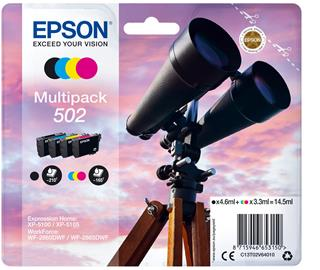 Tinta epson multipack negrocolor 502