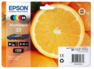 Cartucho tinta epson 33 5colours multipack