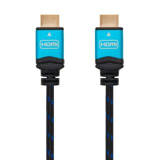CABLE HDMI V2.0 4K 60HZ 18GBPS, AM-AM, NEGRO 0.5M NANOCABLE