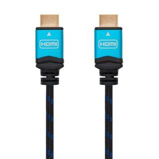 CABLE HDMI V2.0 4K 60HZ 18GBPS, AM-AM, NEGRO 5M NANOCABLE