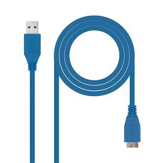 CABLE USB 3.0 A/M-MICRO B/M 1M AZUL NANOCABLE