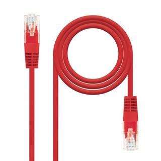 CABLE RED LATIGUILLO RJ45 CAT.5E UTP AWG24,10M ROJO NANOCABLE