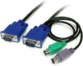 Cable STARTECH CABLE KVM 18M 3 EN 1 VGA PS/2 ...