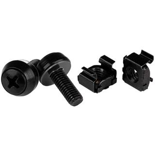 STARTECH 50 PACK OF M6 MOUNTING SCREWS   M6 CAGE NUTS M6X12MM BL