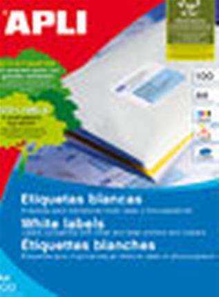 CAJA 100 HOJAS ETIQUETA BLANCA ILC 105X57 1278 ...