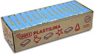CAJA 15 PASTILLAS PLASTILINA 350 G - AZUL CLARO ...