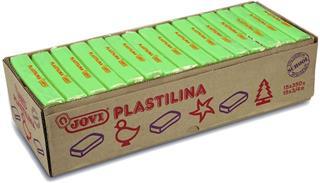 CAJA 15 PASTILLAS PLASTILINA 350 G - VERDE CLARO ...