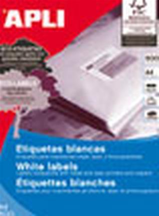 CAJA 500 HOJAS ETIQUETA BLANCA ILC 105X37 01785 ...