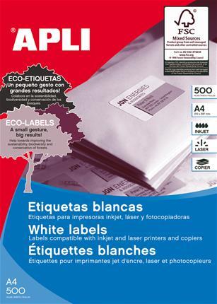 CAJA 500 HOJAS ETIQUETA BLANCA ILC 105X42.4 APLI