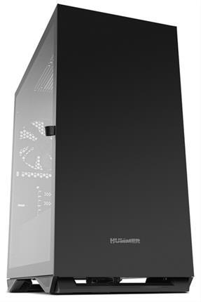 Semitorre Nox Hummer Zero cristal templado USB3.0 negra