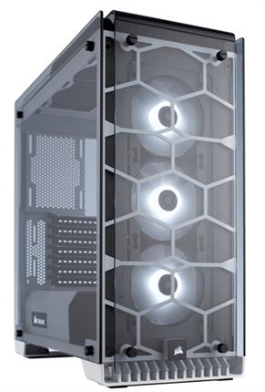 CAJA CORSAIR CRYSTAL 570X RGB ATX MID-TOWER BLANCA