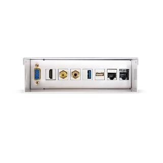 CAJA DE CONEXIONES MULTIMEDIA DE PARED VGA+HDMI+JACK3.5+RCA+USB3