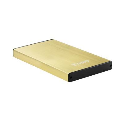 "CAJA EXTERNA 2.5"" SATA TOOQ DORADA USB 3.0/3.1"